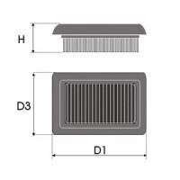 Sportovní filtr Green FORD ESCORT 1.8L D  výkon 44kW (60hp) typ motoru RTB rok výroby 88-90