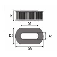 Sportovní filtr Green FORD FIESTA III 1,3L i monopoint rok výroby 91-95